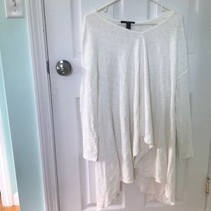 White long sleeve trapeze top